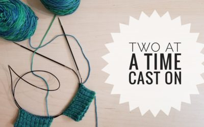 Casting On for Two At A Time Socks